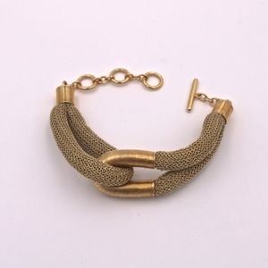 A&M Gold Mesh Bracelet w/Gold Wired Metal Loop